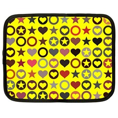 Heart Circle Star Netbook Case (large)