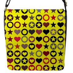 Heart Circle Star Flap Messenger Bag (s) by Nexatart