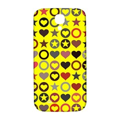 Heart Circle Star Samsung Galaxy S4 I9500/i9505  Hardshell Back Case