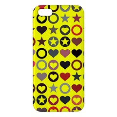 Heart Circle Star Iphone 5s/ Se Premium Hardshell Case by Nexatart