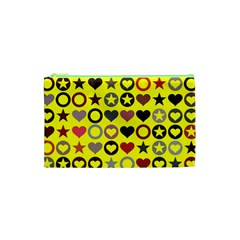 Heart Circle Star Cosmetic Bag (xs) by Nexatart