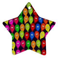 Happy Balloons Ornament (star)