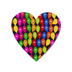 Happy Balloons Heart Magnet by Nexatart