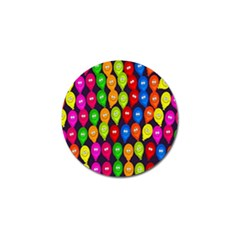 Happy Balloons Golf Ball Marker by Nexatart