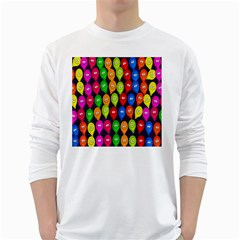 Happy Balloons White Long Sleeve T Shirts by Nexatart