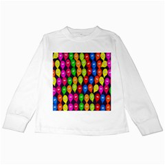 Happy Balloons Kids Long Sleeve T Shirts by Nexatart