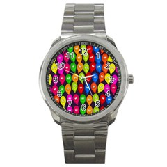 Happy Balloons Sport Metal Watch by Nexatart