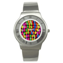 Happy Balloons Stainless Steel Watch by Nexatart