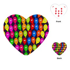 Happy Balloons Playing Cards (heart)  by Nexatart