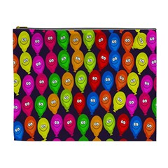 Happy Balloons Cosmetic Bag (xl) by Nexatart