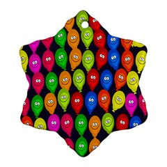 Happy Balloons Ornament (snowflake) by Nexatart