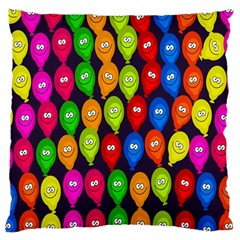 Happy Balloons Large Cushion Case (two Sides)