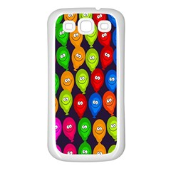 Happy Balloons Samsung Galaxy S3 Back Case (white) by Nexatart