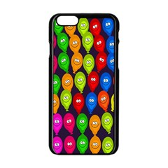Happy Balloons Apple Iphone 6/6s Black Enamel Case by Nexatart