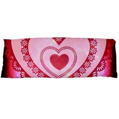 Heart Background Lace Body Pillow Case (dakimakura) by Nexatart