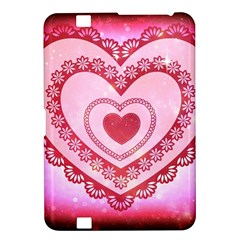 Heart Background Lace Kindle Fire Hd 8 9  by Nexatart