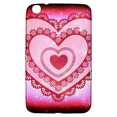 Heart Background Lace Samsung Galaxy Tab 3 (8 ) T3100 Hardshell Case  by Nexatart