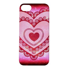 Heart Background Lace Apple Iphone 5s/ Se Hardshell Case