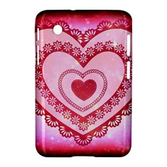 Heart Background Lace Samsung Galaxy Tab 2 (7 ) P3100 Hardshell Case  by Nexatart
