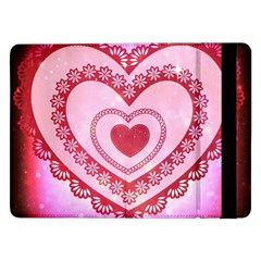 Heart Background Lace Samsung Galaxy Tab Pro 12 2  Flip Case