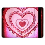 Heart Background Lace Samsung Galaxy Tab Pro 12.2  Flip Case Front