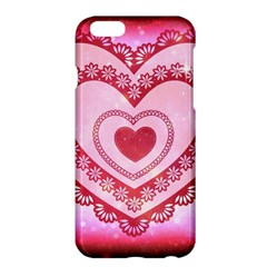 Heart Background Lace Apple Iphone 6 Plus/6s Plus Hardshell Case