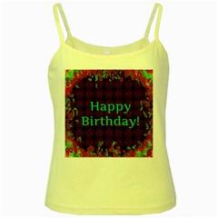 Happy Birthday! Yellow Spaghetti Tank