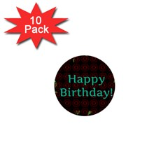 Happy Birthday! 1  Mini Buttons (10 Pack)  by Nexatart