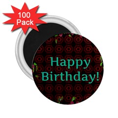 Happy Birthday! 2 25  Magnets (100 Pack)  by Nexatart