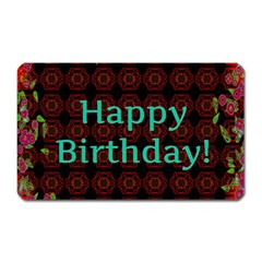 Happy Birthday! Magnet (rectangular) by Nexatart