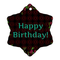 Happy Birthday! Snowflake Ornament (two Sides)