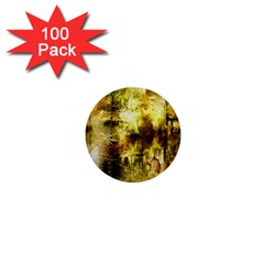 Grunge Texture Retro Design 1  Mini Buttons (100 Pack)