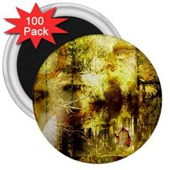 Grunge Texture Retro Design 3  Magnets (100 Pack)