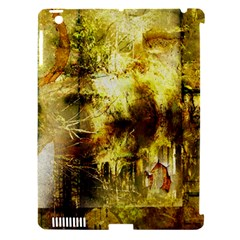 Grunge Texture Retro Design Apple Ipad 3/4 Hardshell Case (compatible With Smart Cover)