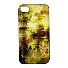 Grunge Texture Retro Design Apple Iphone 4/4s Hardshell Case With Stand