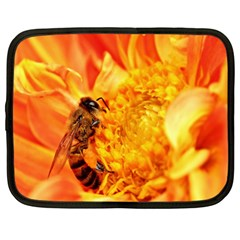 Honey Bee Takes Nectar Netbook Case (large)