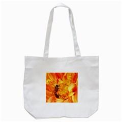 Honey Bee Takes Nectar Tote Bag (White) by Nexatart
