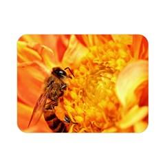Honey Bee Takes Nectar Double Sided Flano Blanket (mini)  by Nexatart
