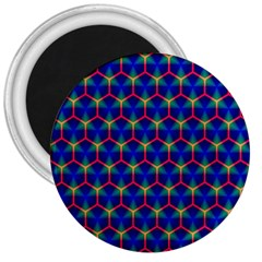 Honeycomb Fractal Art 3  Magnets by Nexatart