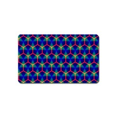 Honeycomb Fractal Art Magnet (Name Card) by Nexatart