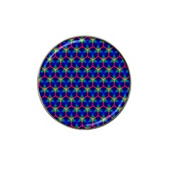 Honeycomb Fractal Art Hat Clip Ball Marker (4 Pack)