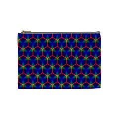 Honeycomb Fractal Art Cosmetic Bag (medium)