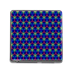 Honeycomb Fractal Art Memory Card Reader (square)