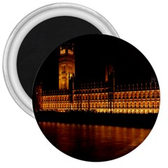 Houses Of Parliament 3  Magnets by Nexatart