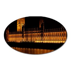 Houses Of Parliament Oval Magnet by Nexatart