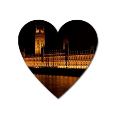 Houses Of Parliament Heart Magnet by Nexatart