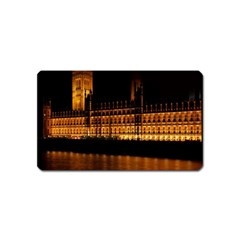 Houses Of Parliament Magnet (name Card) by Nexatart
