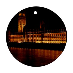 Houses Of Parliament Round Ornament (two Sides) by Nexatart