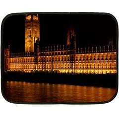 Houses Of Parliament Fleece Blanket (mini)