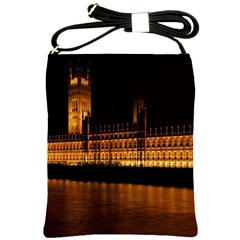Houses Of Parliament Shoulder Sling Bags by Nexatart